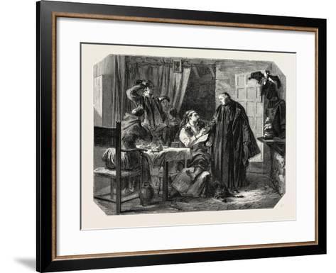 School Sardinia. the News of the Death of King Charles Albert, 1855--Framed Art Print