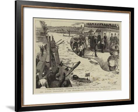 The Annual Inspection of the Training Ship Exmouth by the Princess Louise--Framed Art Print