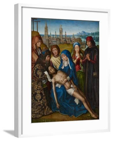 Lamentation with Saint John the Baptist and Saint Catherine of Alexandria, C.1493-1501--Framed Art Print