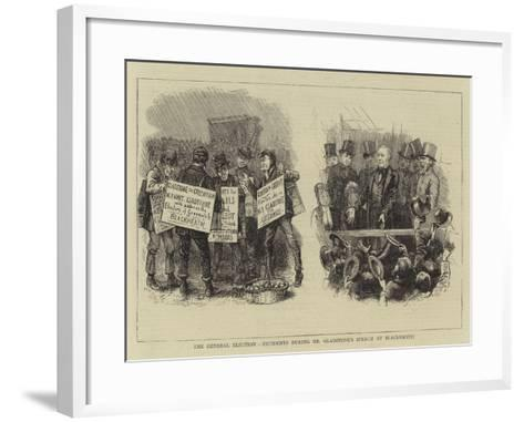The General Election, Incidents During Mr Gladstone's Speech at Blackheath--Framed Art Print