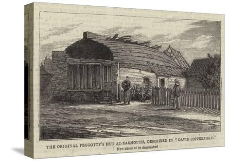 The Original Peggotty's Hut at Yarmouth, Described in David Copperfield--Stretched Canvas Print