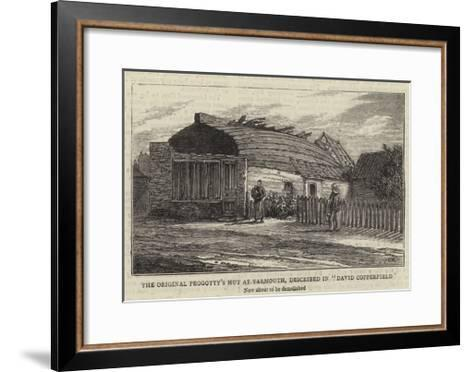 The Original Peggotty's Hut at Yarmouth, Described in David Copperfield--Framed Art Print