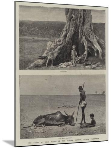 The Famine in India, Scenes in the Bellary District, Madras Presidency--Mounted Giclee Print