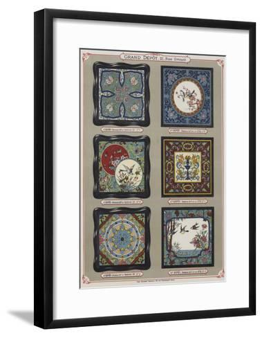 Page from the Catalogue of the Grand Depot De Porcelaines, Faiences Et Verreries--Framed Art Print