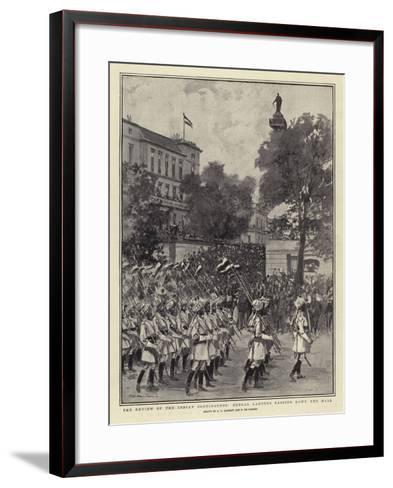 The Review of the Indian Contingents, Bengal Lancers Passing Down the Mall--Framed Art Print