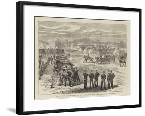 The Autumn Manoeuvres, Camp of Instruction for Transport Train, Woolwich--Framed Art Print