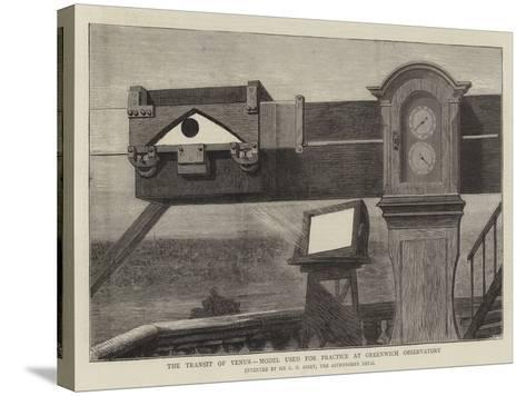 The Transit of Venus, Model Used for Practice at Greenwich Observatory--Stretched Canvas Print