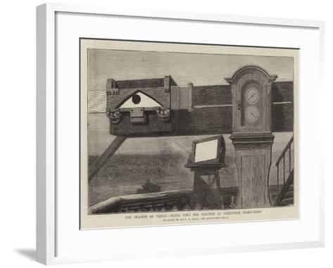 The Transit of Venus, Model Used for Practice at Greenwich Observatory--Framed Art Print