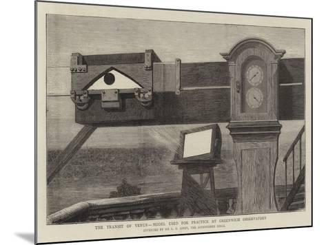 The Transit of Venus, Model Used for Practice at Greenwich Observatory--Mounted Giclee Print