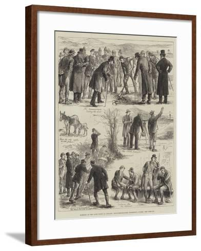 Working of the Land Court in Ireland, Sub-Commissioners Examining a Farm--Framed Art Print