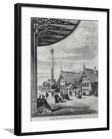 Peasant Houses at the Russian Pavilion at the Exposition Universelle of 1867--Framed Art Print