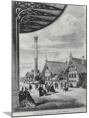 Peasant Houses at the Russian Pavilion at the Exposition Universelle of 1867--Mounted Giclee Print