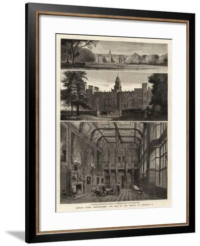 Hatfield House, Hartfordshire, the Seat of the Marquis of Salisbury, Ii--Framed Art Print