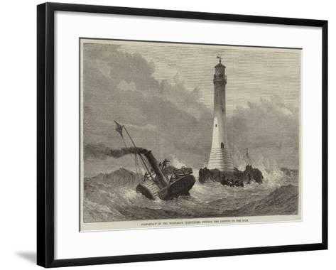 Completion of the Wolf-Rock Lighthouse, Putting the Keepers on the Rock--Framed Art Print
