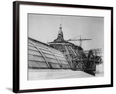 Construction of the Dome of the Grand Palais, for the Exposition Universelle of 1900--Framed Art Print