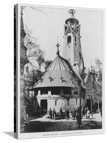 The Finnish Pavilion on Rue Des Nations at the Exposition Universelle of 1900, Paris--Stretched Canvas Print