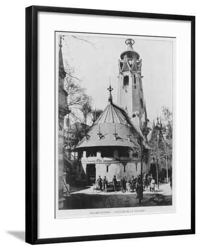 The Finnish Pavilion on Rue Des Nations at the Exposition Universelle of 1900, Paris--Framed Art Print