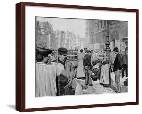 Corner of the Market Near the Church of Saint Eustache, Les Halles, Paris, 1896--Framed Art Print
