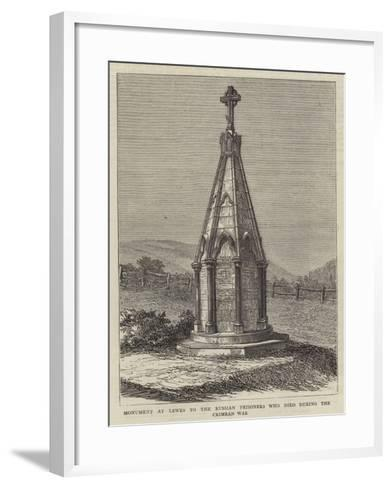 Monument at Lewes to the Russian Prisoners Who Died During the Crimean War--Framed Art Print