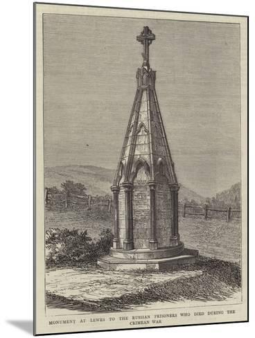 Monument at Lewes to the Russian Prisoners Who Died During the Crimean War--Mounted Giclee Print