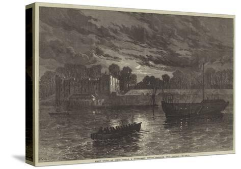 Night Guard at Upnor Castle, a Government Powder Magazine, Near Chatham--Stretched Canvas Print