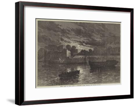 Night Guard at Upnor Castle, a Government Powder Magazine, Near Chatham--Framed Art Print