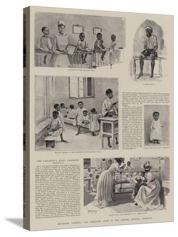 Piccaninny Patients, the Children's Ward in the General Hospital, Barbados--Stretched Canvas Print