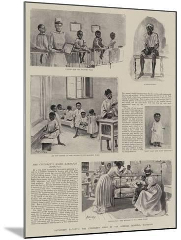Piccaninny Patients, the Children's Ward in the General Hospital, Barbados--Mounted Giclee Print