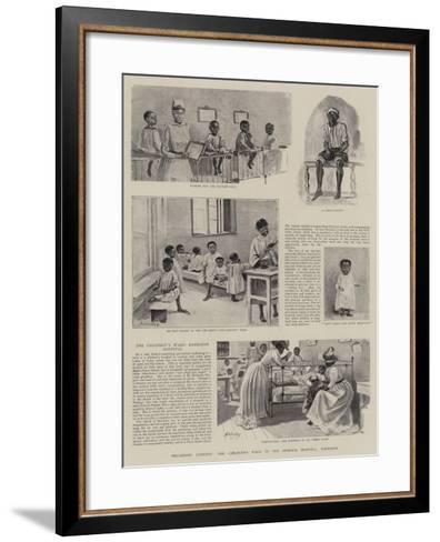 Piccaninny Patients, the Children's Ward in the General Hospital, Barbados--Framed Art Print