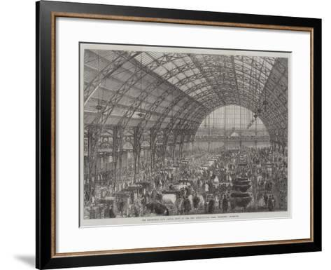 The Smithfield Club Cattle Show at the New Agricultural Hall, Islington--Framed Art Print