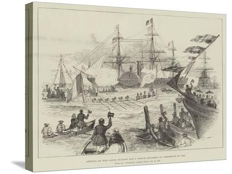 Arrival of King Louis Philippe and a French Squadron at Portsmouth in 1844--Stretched Canvas Print