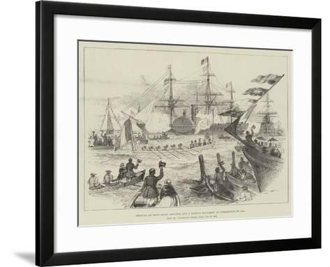 Arrival of King Louis Philippe and a French Squadron at Portsmouth in 1844--Framed Art Print