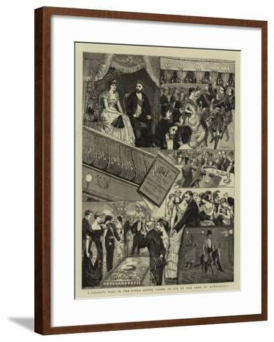 A Charity Ball in the Opera House, Cairo, in Aid of the Poor of Alexandria--Framed Art Print