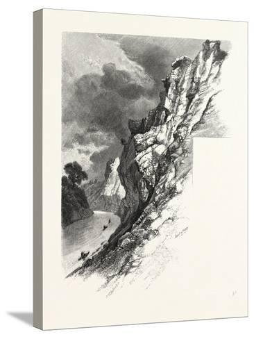 New Brunswick, Plaster Rocks, Tobique River, Canada, Nineteenth Century--Stretched Canvas Print