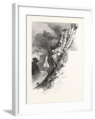 New Brunswick, Plaster Rocks, Tobique River, Canada, Nineteenth Century--Framed Art Print