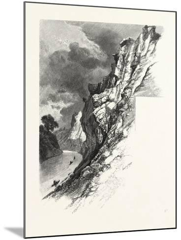 New Brunswick, Plaster Rocks, Tobique River, Canada, Nineteenth Century--Mounted Giclee Print