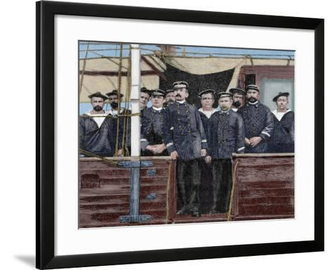 Pierre Loti, Pseudonym of Julien Viaud (1850-1923). French Novelist and Naval Officer. Coloured--Framed Art Print