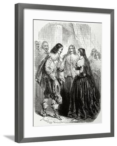 Interview Between the King Louis XIII of France (1601-1643) and His Mother Marie De'Medici--Framed Art Print