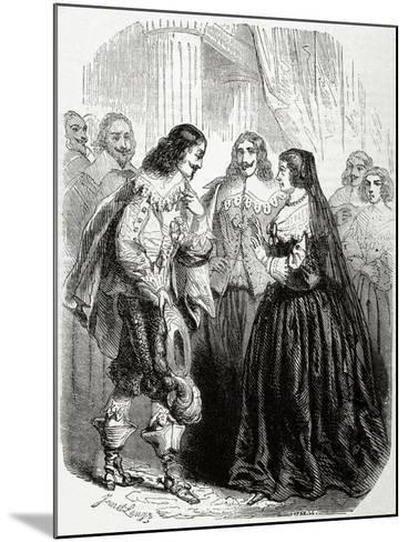 Interview Between the King Louis XIII of France (1601-1643) and His Mother Marie De'Medici--Mounted Giclee Print