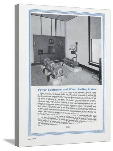 Room Equipped with Western Electric Company's Power Equipment and Water Cooling System--Stretched Canvas Print