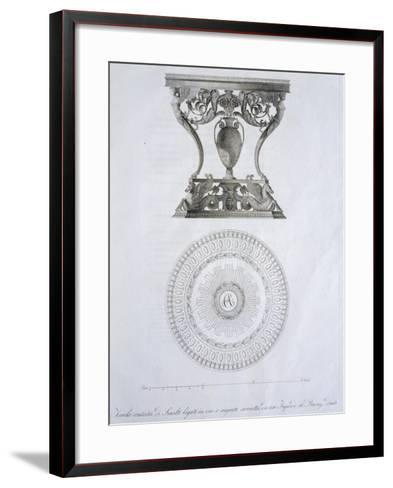 Bronze and Enamel Table, by Dala, Designed by Giuseppe Borsato, Italy, 19th Century--Framed Art Print