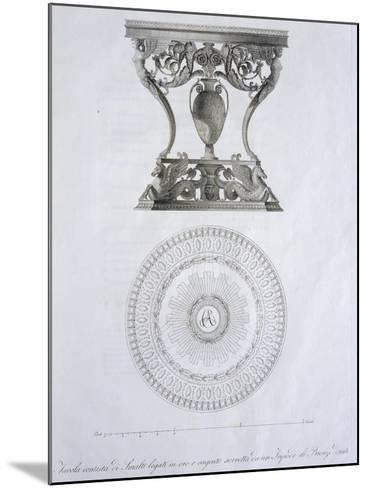 Bronze and Enamel Table, by Dala, Designed by Giuseppe Borsato, Italy, 19th Century--Mounted Giclee Print