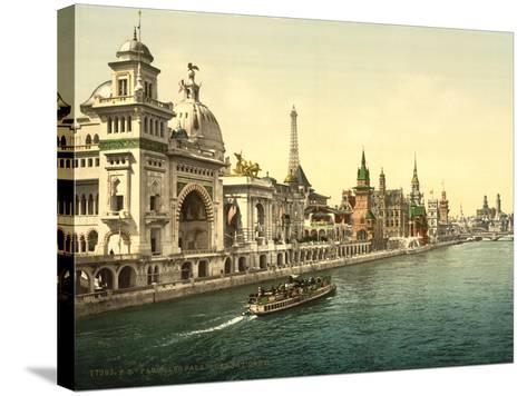 The Pavilions of the Nations, Ii, Exposition Universal, Paris, France, C.1890-1900--Stretched Canvas Print