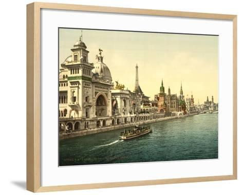 The Pavilions of the Nations, Ii, Exposition Universal, Paris, France, C.1890-1900--Framed Art Print