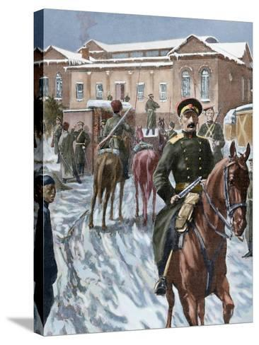 Russo-Japanese War (1904-1905). Russian Headquarters at Port Arthur--Stretched Canvas Print