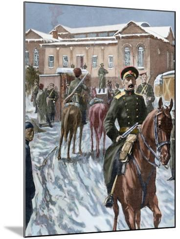 Russo-Japanese War (1904-1905). Russian Headquarters at Port Arthur--Mounted Giclee Print