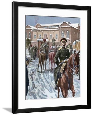 Russo-Japanese War (1904-1905). Russian Headquarters at Port Arthur--Framed Art Print