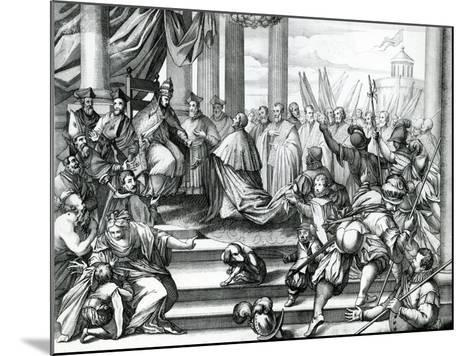 Pope Alexander III (1105-81) Offering Doge Sebatiano Ziani (D.1178) the Blessed--Mounted Giclee Print