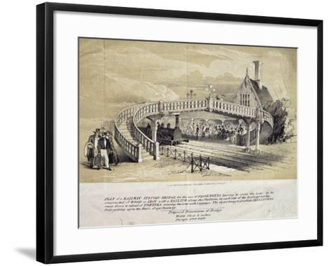 Design for Pedestrian Overpass at Train Station, London, England, UK, 19th Century--Framed Art Print