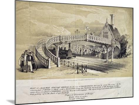 Design for Pedestrian Overpass at Train Station, London, England, UK, 19th Century--Mounted Giclee Print